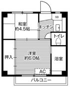 2K ผังห้องของ Village House Kawauchi ที่ Kiryu-shi