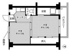 2K ผังห้องของ Village House Kinoko ที่ Ibara-shi