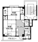 2K ผังห้องของ Village House Fukumitsu ที่ Nanto-shi