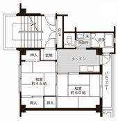 2K floorplan of Village House Kute in Oda-shi