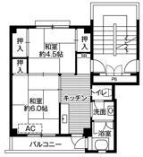 位于秩父市的Village House 秩父的平面图