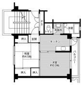 mặt bằng sàn 2K của Village House Souwa ở Koga-shi