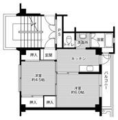 2K floorplan of Village House Butsuden in Uozu-shi