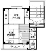2K floorplan of Village House Kinkai in Nagasaki-shi