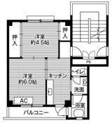 2K ผังห้องของ Village House Awakura ที่ Fujinomiya-shi