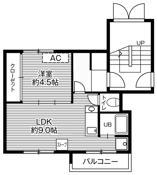 位于札幌市的Village House 福住的平面图