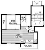 mặt bằng sàn 1LDK của Village House Zenibako ở Otaru-shi