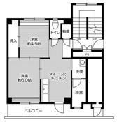 mặt bằng sàn 2DK của Village House Unshu Hirata ở Izumo-shi