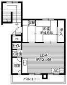 1LDK floorplan of Village House Shin Chioda in Yubari-shi