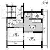 位于福岡市的Village House 上和白的平面图
