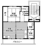 2DK ผังห้องของ Village House Shiwa ที่ Shiwa-gun