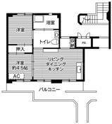 位于花巻市的Village House 万丁目的平面图