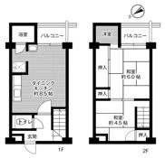 2LDK ผังห้องของ Village House Kagata ที่ Kawachinagano-shi