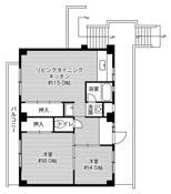 2LDK ผังห้องของ Village House Shimogoi ที่ Toyohashi-shi