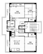位于平塚市的Village House 下島的平面图