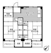 3DK ผังห้องของ Village House Shimosarachi ที่ Hatsukaichi-shi