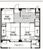 位于松戸市的Village House 栗ヶ沢的平面图