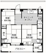 位于千葉市的Village House 愛生的平面图