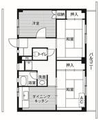 3DK floorplan of Village House Arakawa in Toyama-shi