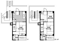 3DK floorplan of Village House Edogawadai in Nagareyama-shi