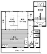 位于小樽市的Village House 潮見ヶ丘的平面图