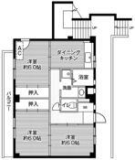 3DK floorplan of Village House Kawaijuku in Yokohama-shi