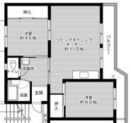 2LDK floorplan of Village House Iizuka in Iizuka-shi