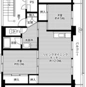 2LDK floorplan of Village House Miyoshi in Hitachiomiya-shi