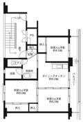 3DK ผังห้องของ Village House Funahashi ที่ Nakaniikawa-gun