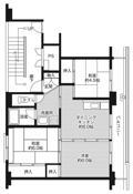 3DK ผังห้องของ Village House Kohori ที่ Nagahama-shi