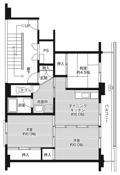 mặt bằng sàn 2LDK của Village House Hitoichi ở Hachinohe-shi