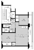 位于熊本市的Village House 城南的平面图