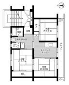 mặt bằng sàn 3DK của Village House Shoou ở Katsuta-gun