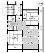 3DK ผังห้องของ Village House Daido ที่ Hofu-shi