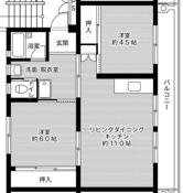 2LDK floorplan of Village House Honjo in Kitakyushu-shi