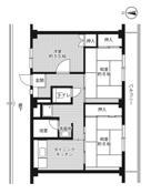 位于姫路市的Village House 城東的平面图