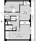 2LDK ผังห้องของ Village House Miyoshi ที่ Miyoshi-shi