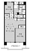 2LDK ผังห้องของ Village House Takamigaoka Tower ที่ Higashihiroshima-shi