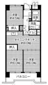 3DK floorplan of Village House Kasadera Tower in Nagoya-shi