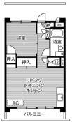 1LDK floorplan of Village House Yanagisaki Tower in Kawaguchi-shi