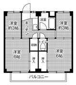 4K ผังห้องของ Village House Noda ที่ Kariya-shi
