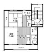 位于仙台市的Village House 仙台鶴ケ谷二丁目的平面图