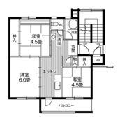 2LDK floorplan of Village House Tsurugaya 5 Chome in Sendai-shi